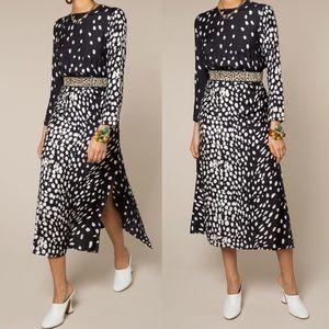 RIXO Alice Leopard Print Dress